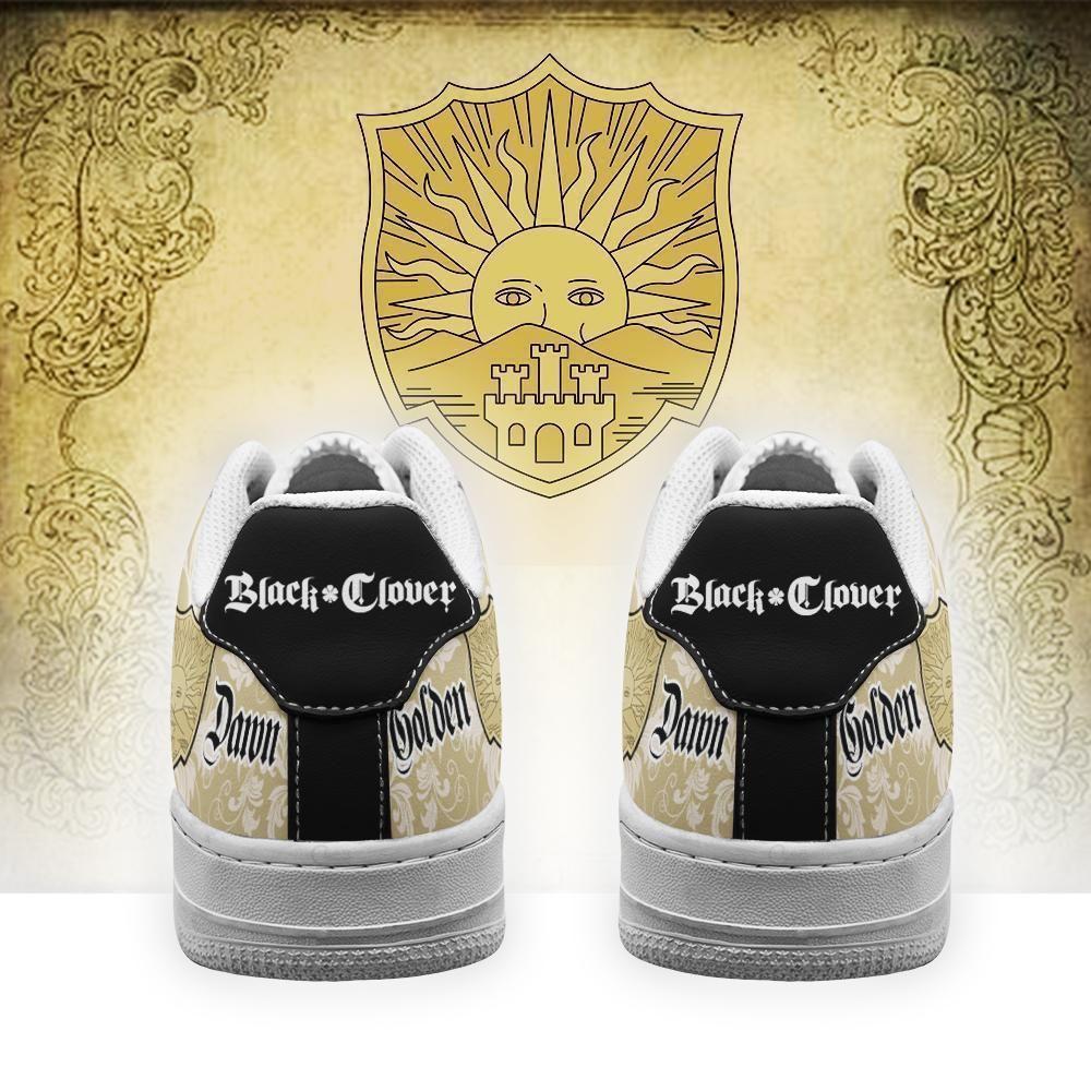 Black Clover Shoes Magic Knights Squad Golden Dawn Air Shoes Anime GO1012