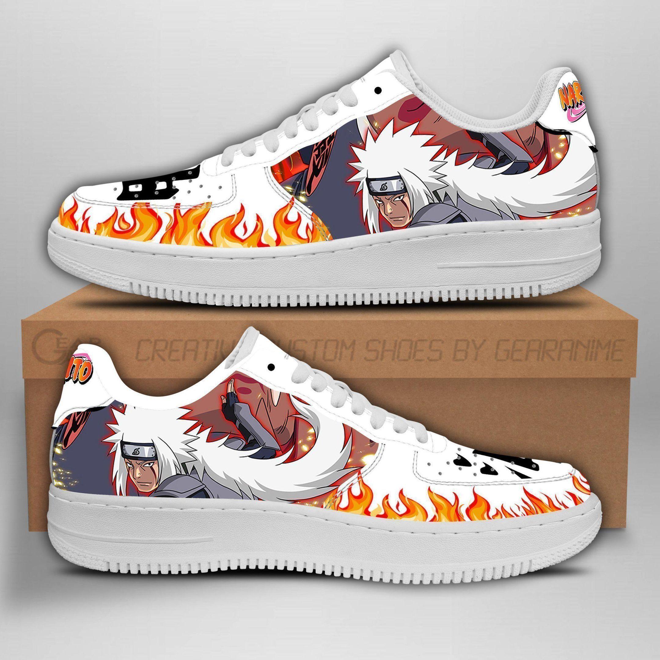Jiraiya Air Shoes Symbol Naruto Anime Shoes Fan Gift GO1012