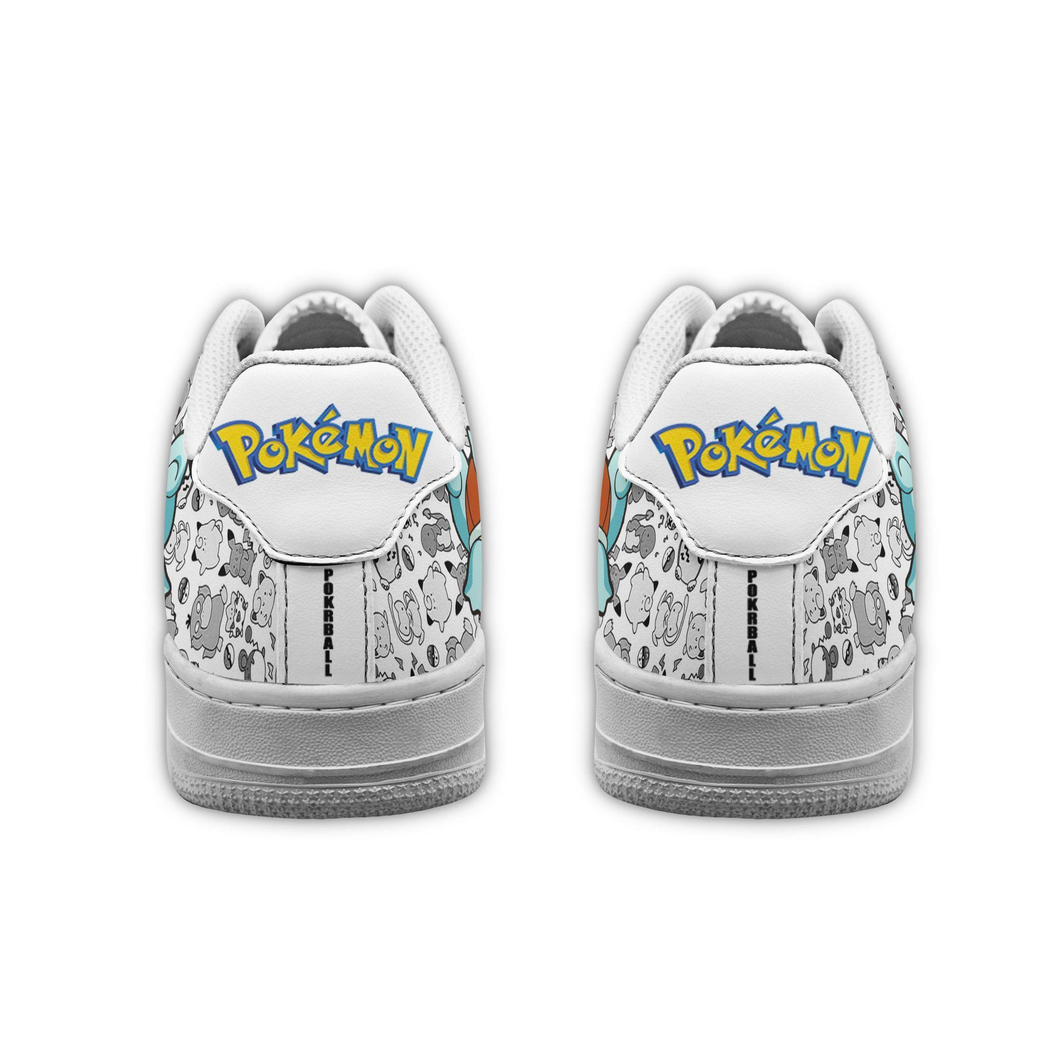 Squirtle Air Shoes Pokemon Shoes Fan Gift GO1012