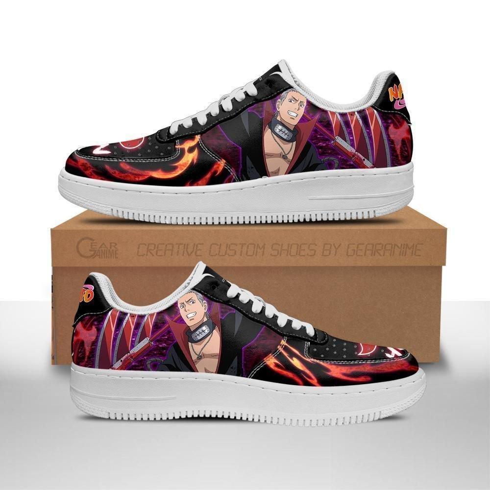 Akatsuki Hidan Air Shoes Custom Naruto Anime Shoes Leather GO1012