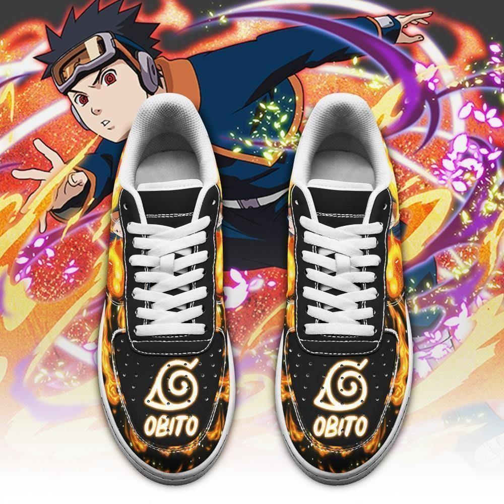 Obito Air Shoes Custom Naruto Anime Shoes Leather GO1012