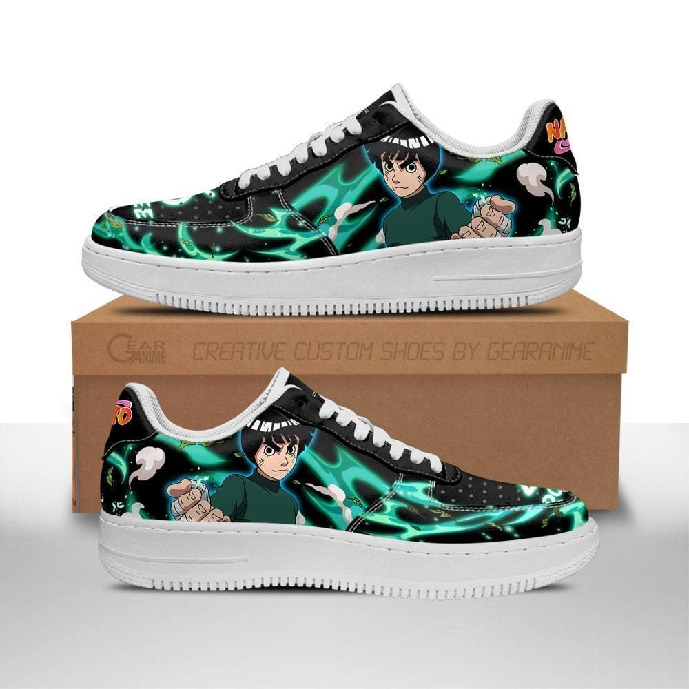 Rock Lee Air Shoes Custom Naruto Anime Shoes Leather GO1012