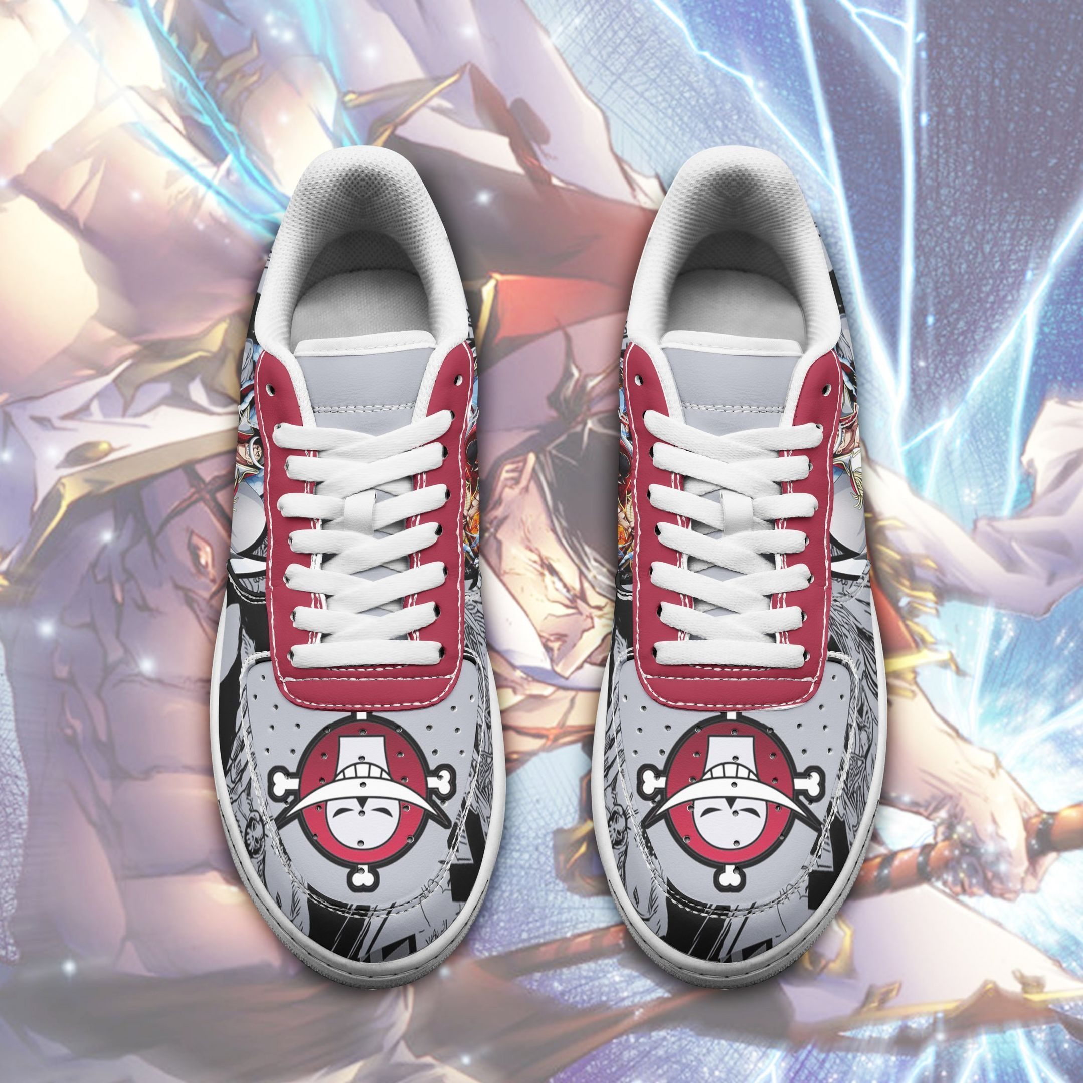 One Piece Whitebeard Air Shoes One Piece Anime Shoes GO1012