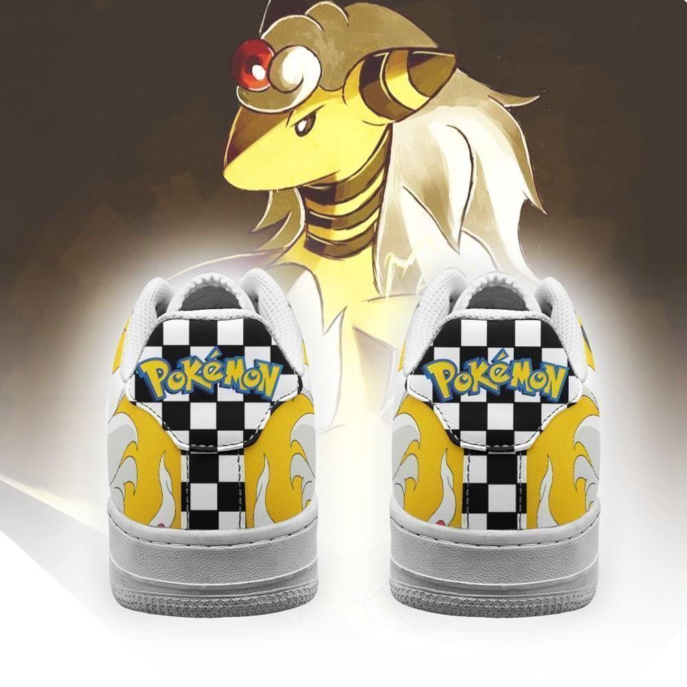 Poke Ampharos Air Shoes Checkerboard Custom Pokemon Shoes GO1012