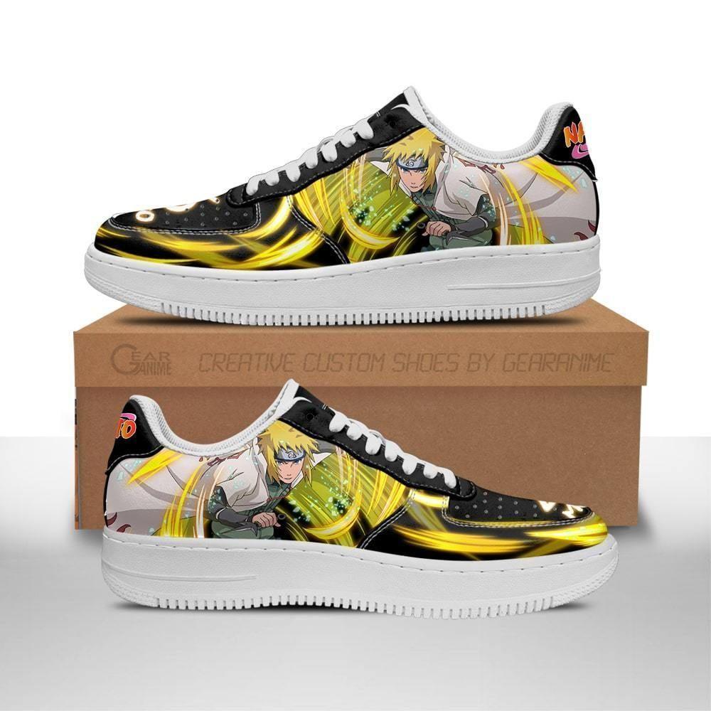 Minato Namikaze Air Shoes Custom Shoes Naruto Anime Shoes Leather GO1012