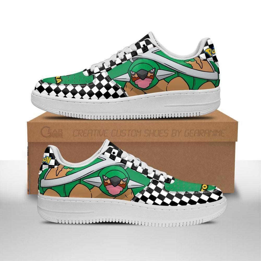Poke Torterra Air Shoes Checkerboard Custom Pokemon Shoes GO1012