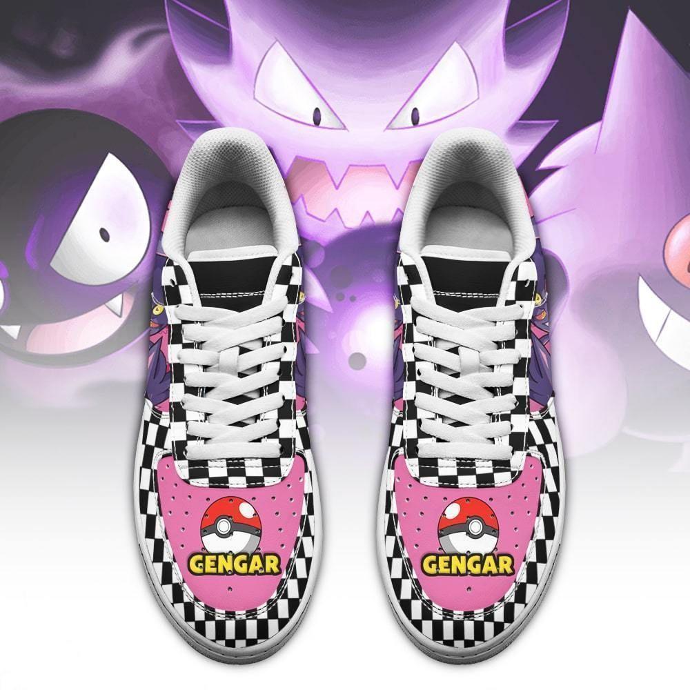 Poke Gengar Air Shoes Checkerboard Custom Pokemon Shoes GO1012
