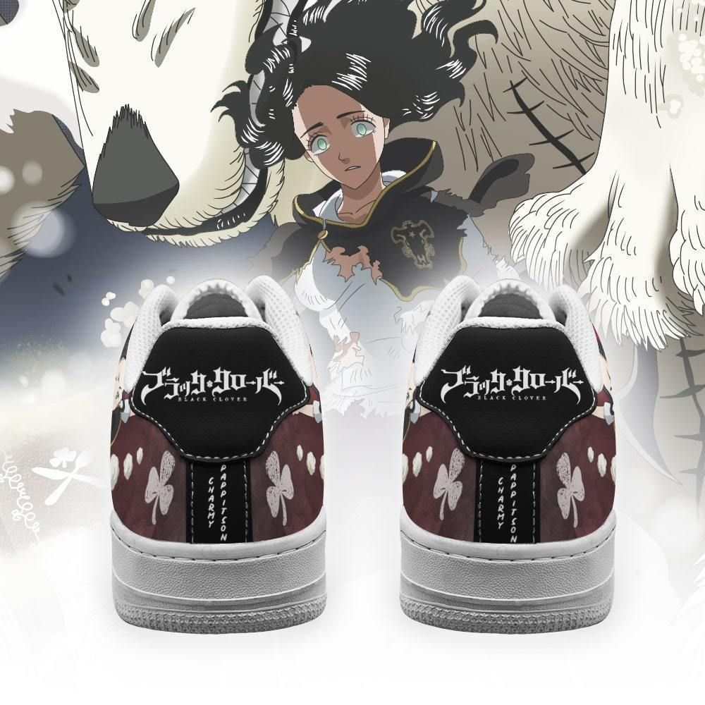 Charmy Pappitson Air Shoes Black Bull Knight Black Clover Anime Shoes GO1012