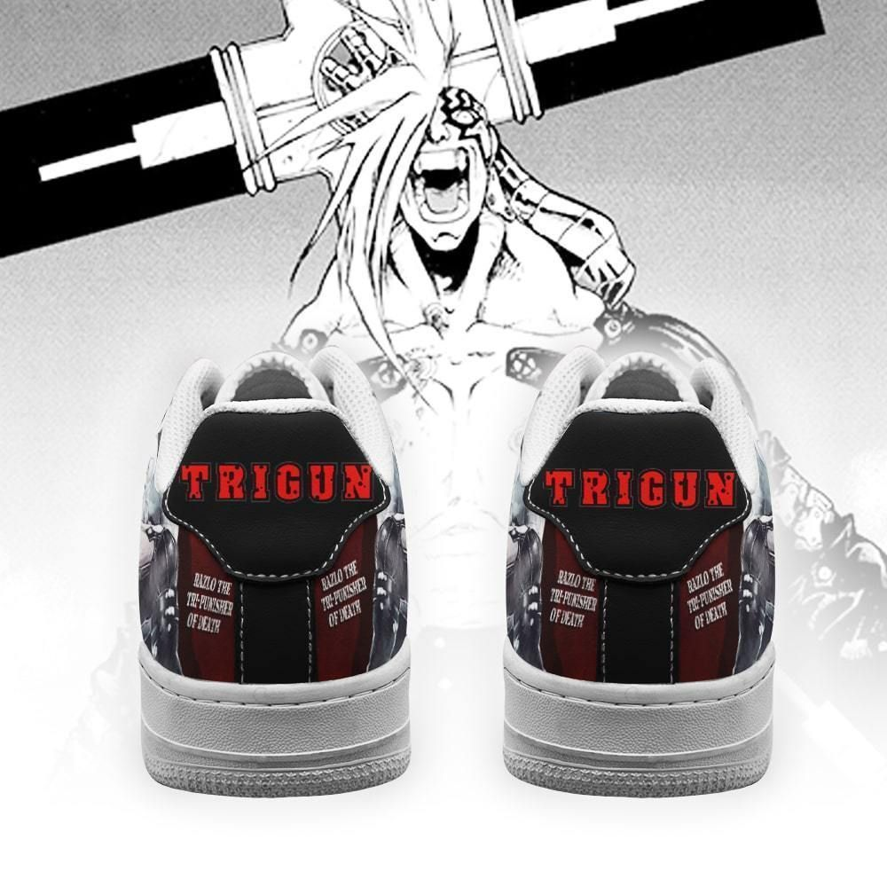 Trigun Shoes Razlo the Tri-Punisher of Death Air Shoes Anime Shoes GO1012