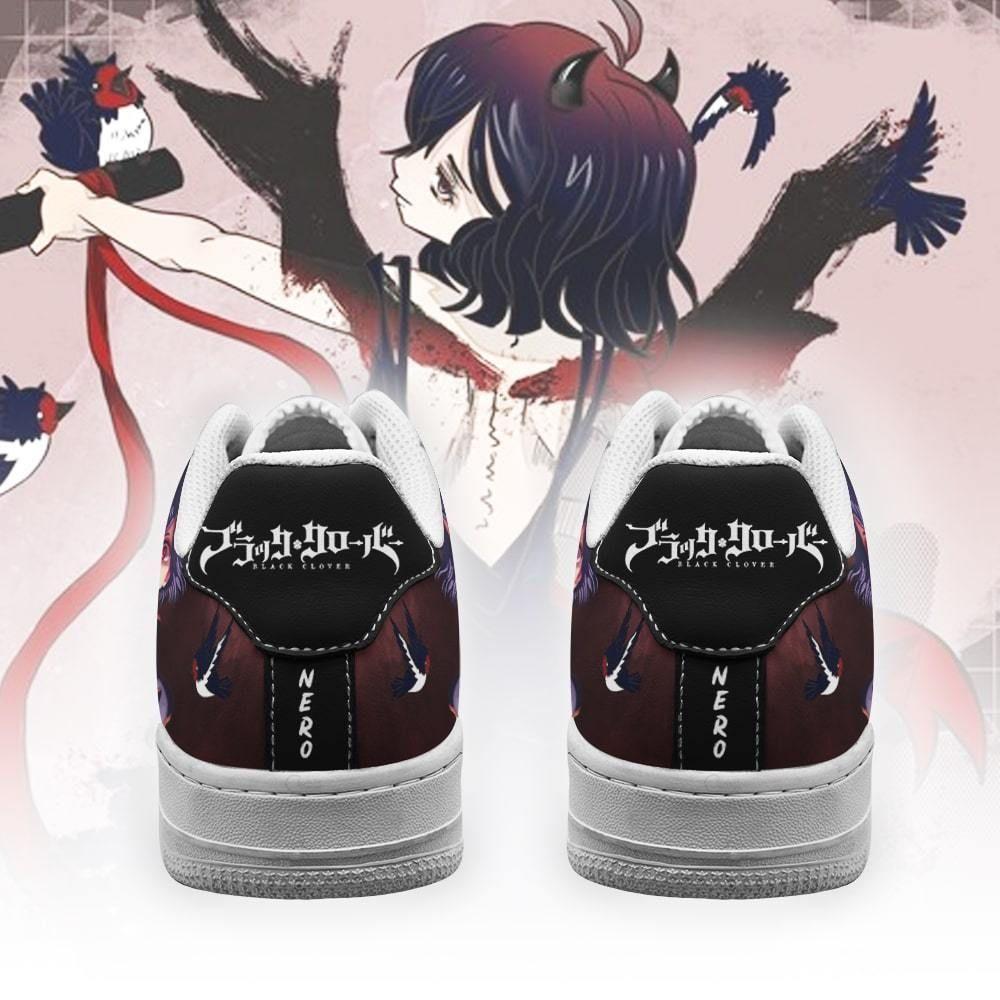 Nero Air Shoes Black Bull Knight Black Clover Anime Shoes GO1012