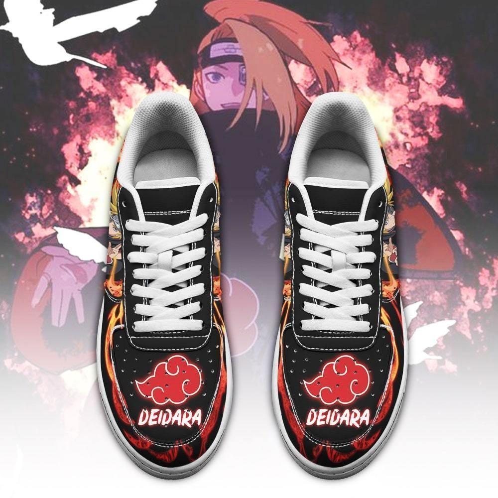 Akatsuki Deidara Air Shoes Custom Naruto Anime Shoes Leather GO1012