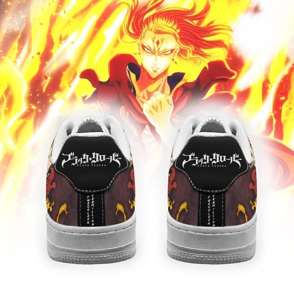 Fuegoleon Vermillion Air Shoes Crimson Lion Knight Black Clover Anime Shoes GO1012