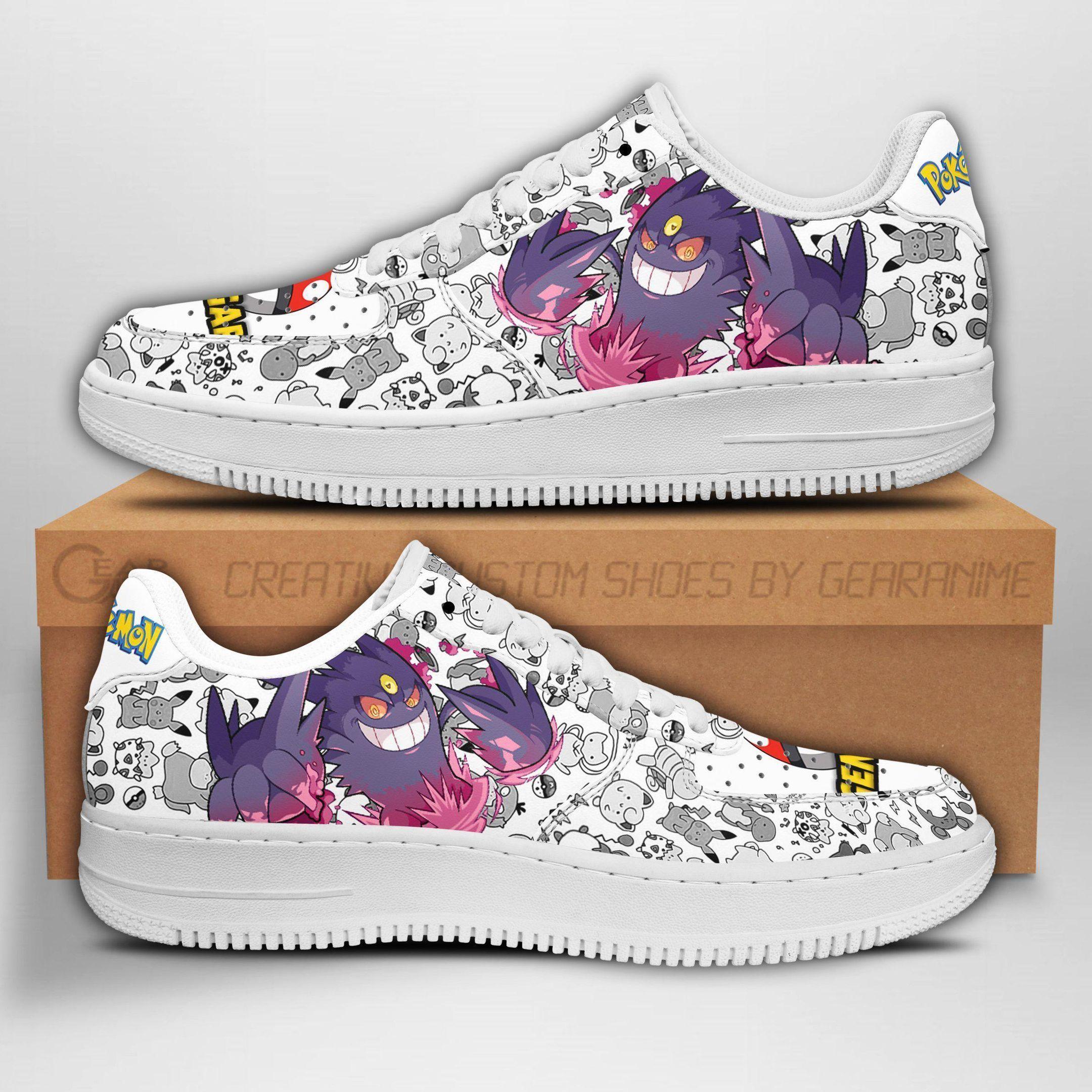 Gengar Air Shoes Pokemon Shoes Fan Gift Idea GO1012