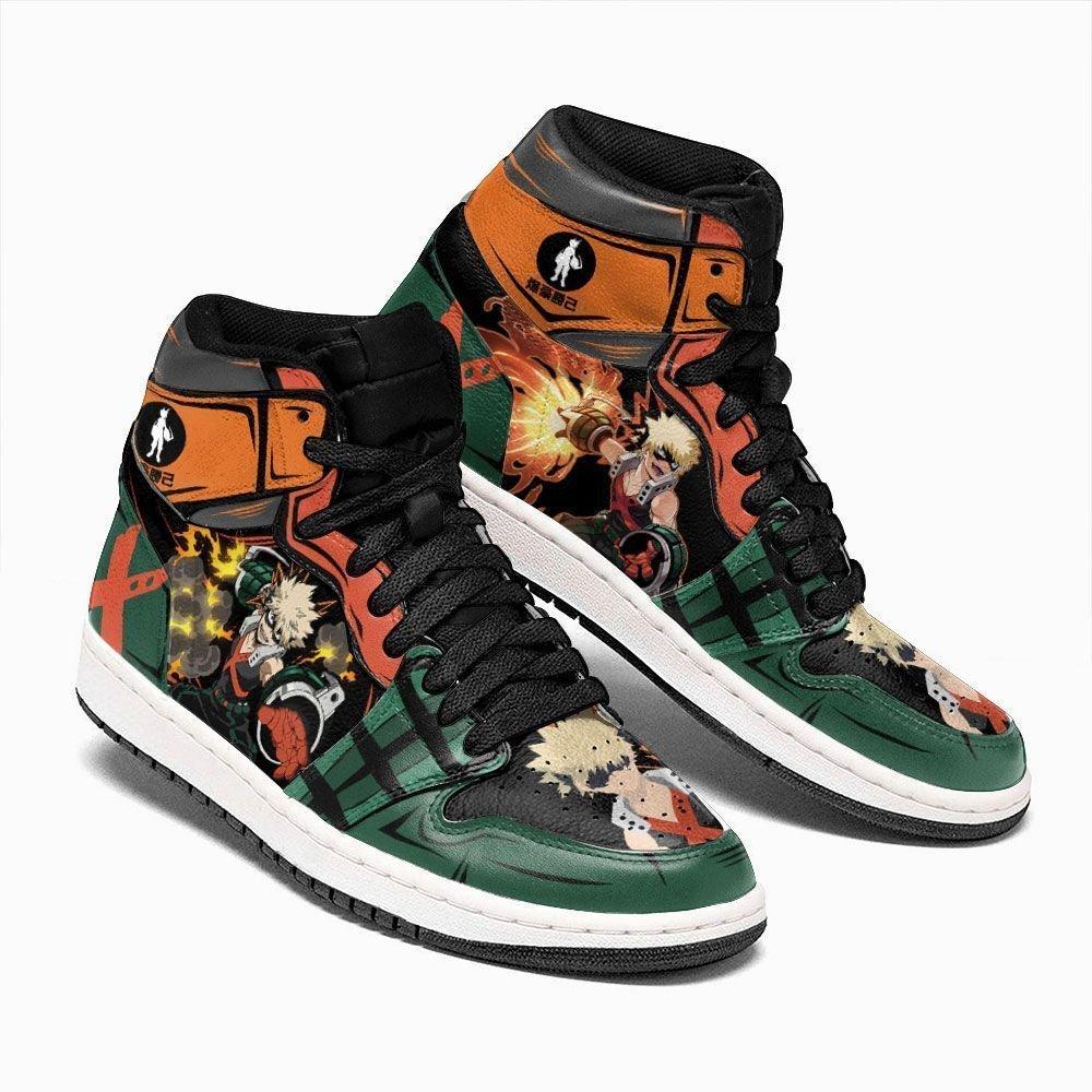 Katsuki Bakugo Shoes Custom My Hero Academia Shoes Anime Inspire GO1210