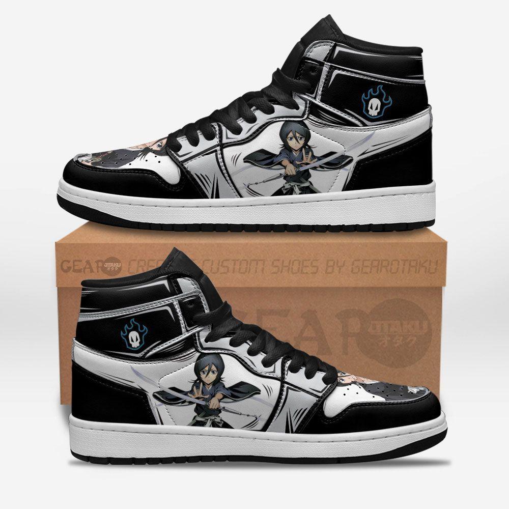 Bleach Shoes Sneakers Rukia Kuchiki Custom Anime Shoes GO1210