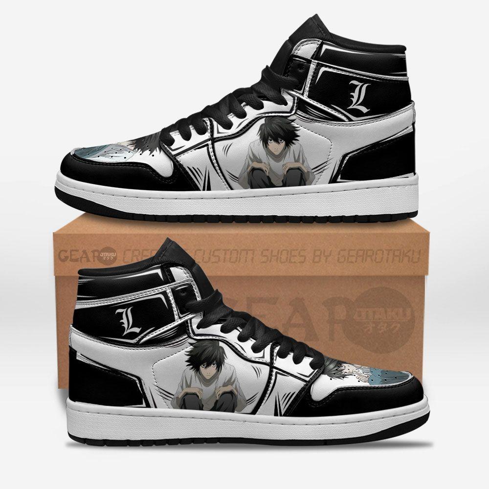 Death Note L Lawliet J1 Shoes Custom Anime Shoes For Fan GO1210