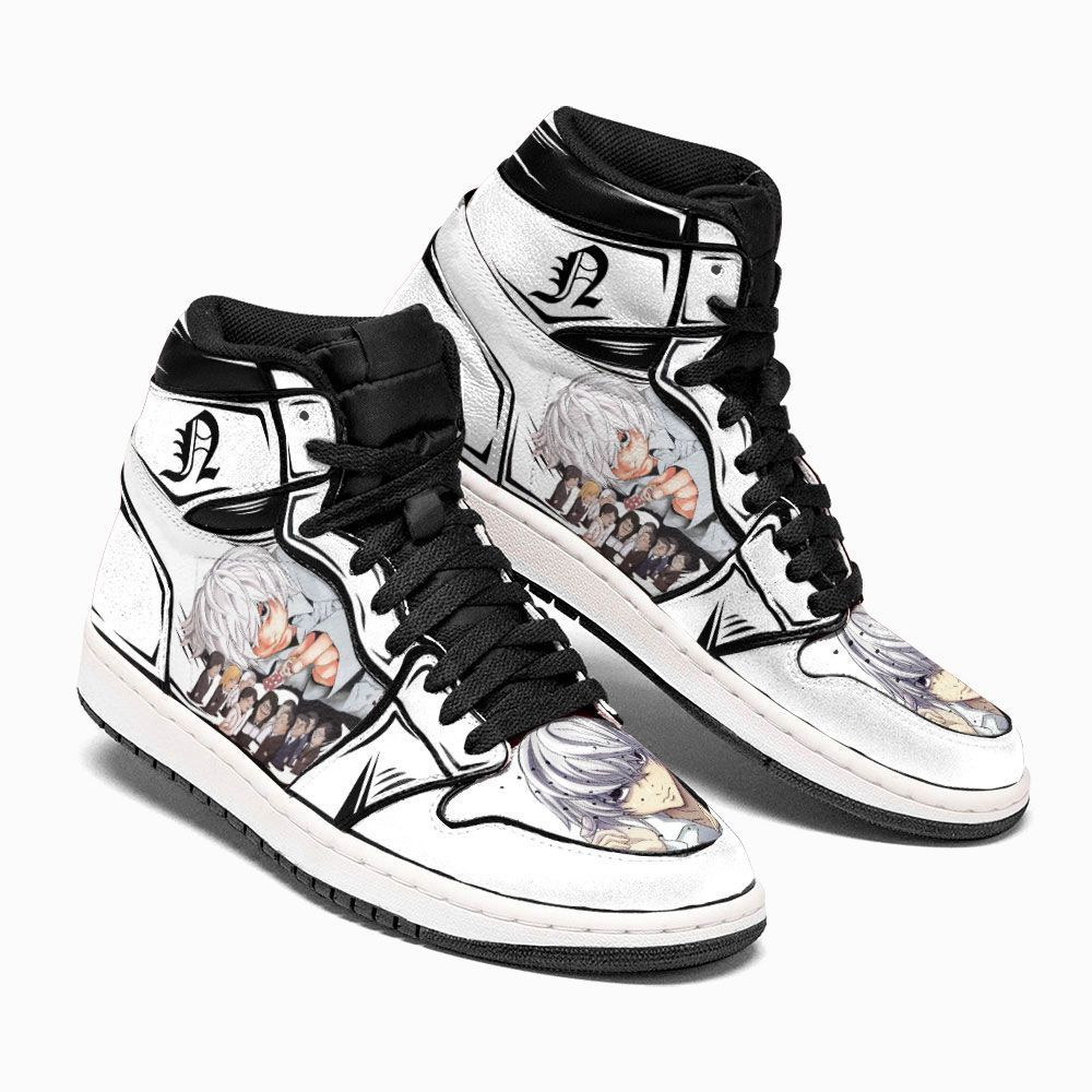 Death Note Shoes Sneakers Nate River Near Custom Anime Shoes GO1210