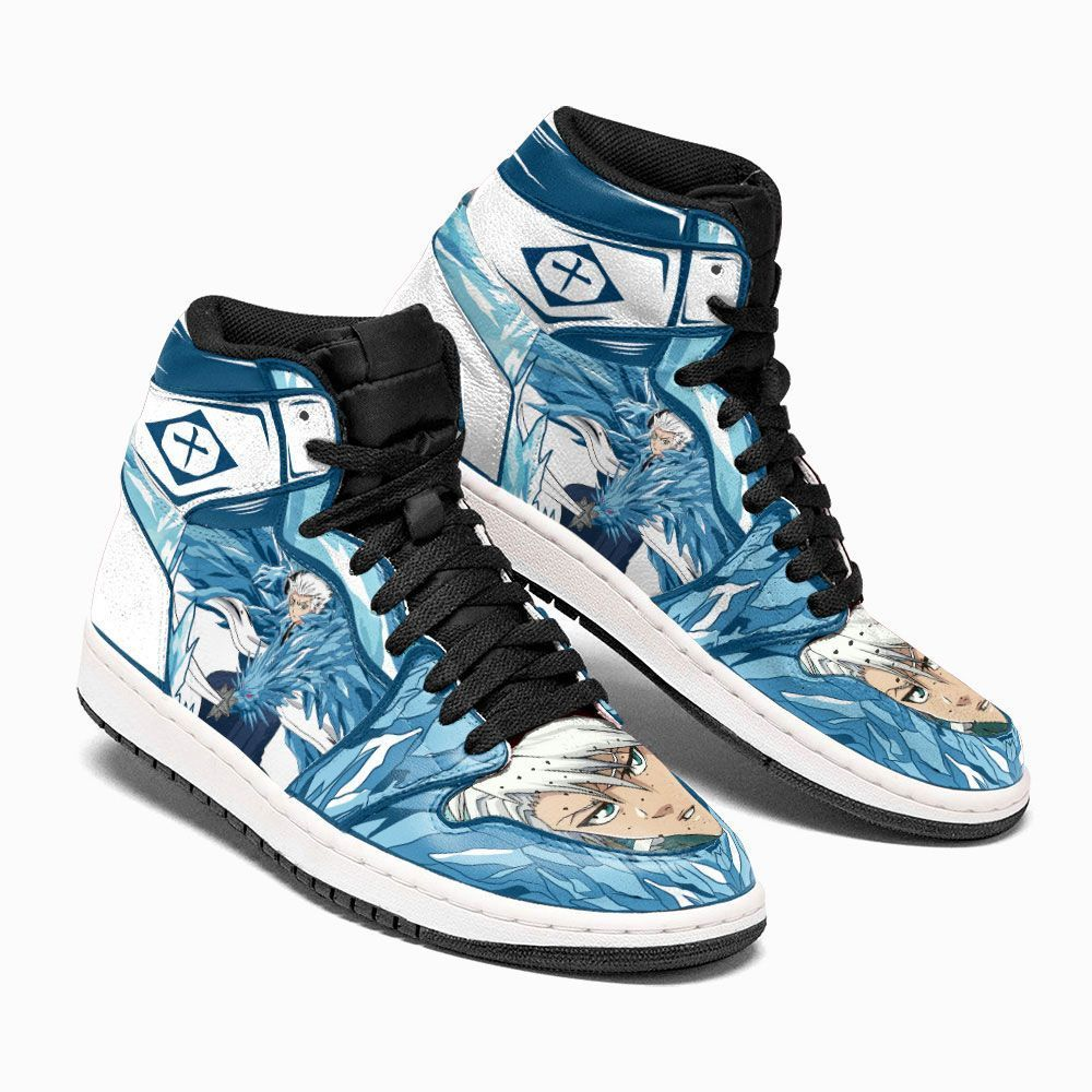 Bleach Shoes Sneakers Hitsugaya Bankai Custom Anime Shoes GO1210
