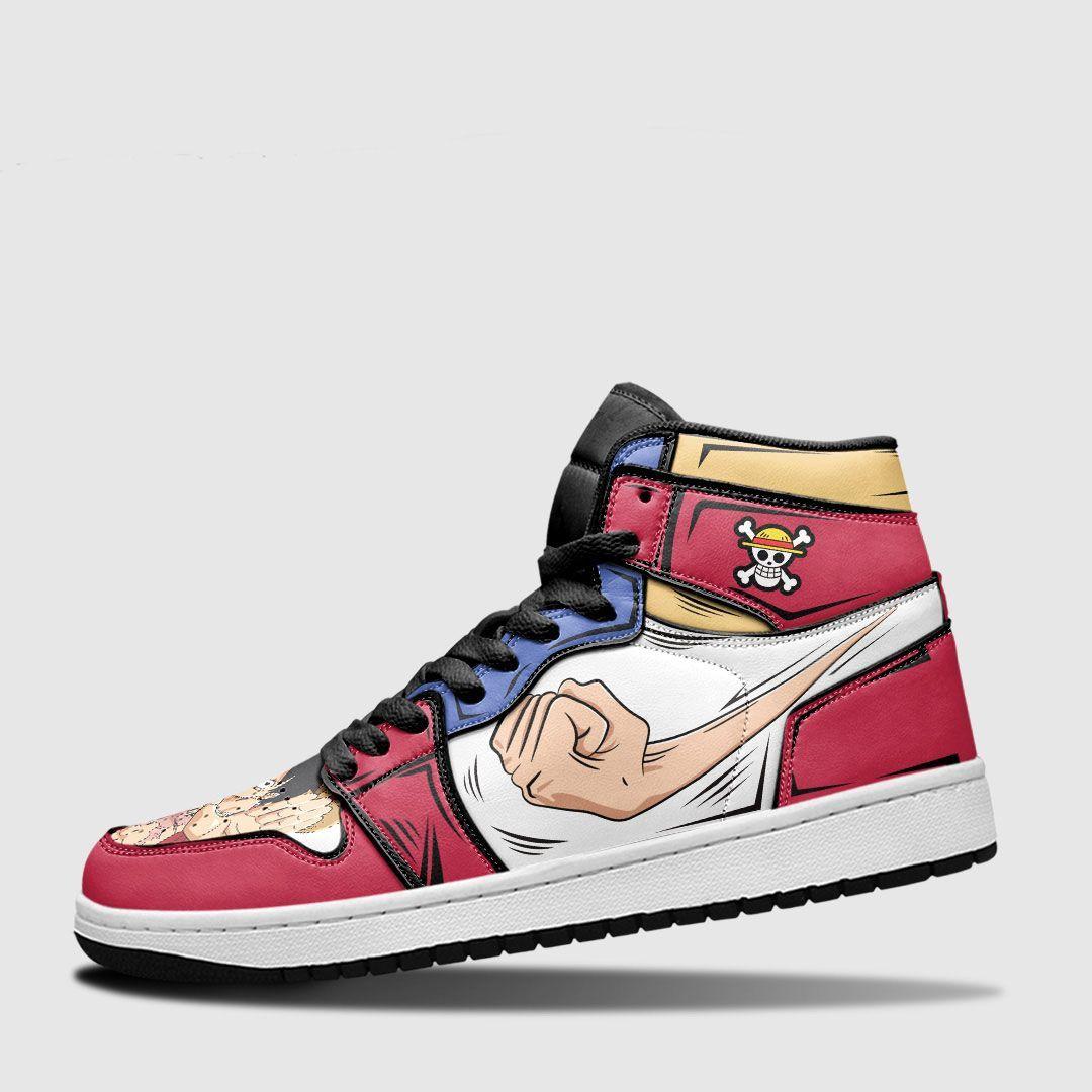 Luffy JD Shoes Custom Gomu Gomu One Piece Shoes Anime Gifts GO1210
