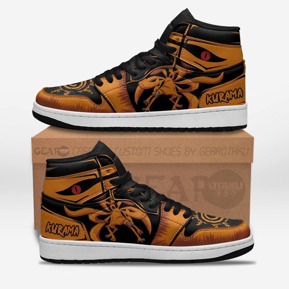 Kurama Naruto J1's Sneakers Custom Naruto Anime Shoes GO1210