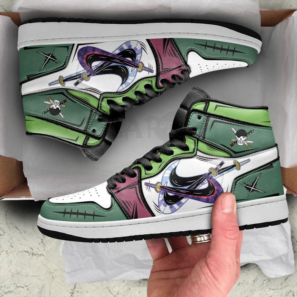 Santoryu Zoro Sneakers 3 Swords Style Custom Anime One Piece Shoes GO1210