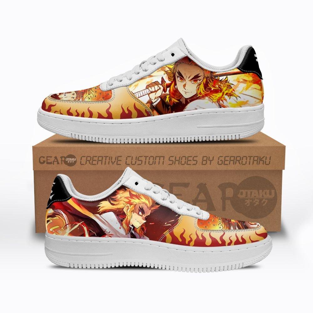 Rengoku Air Shoes Custom Demon Slayer Anime Shoes GO1012