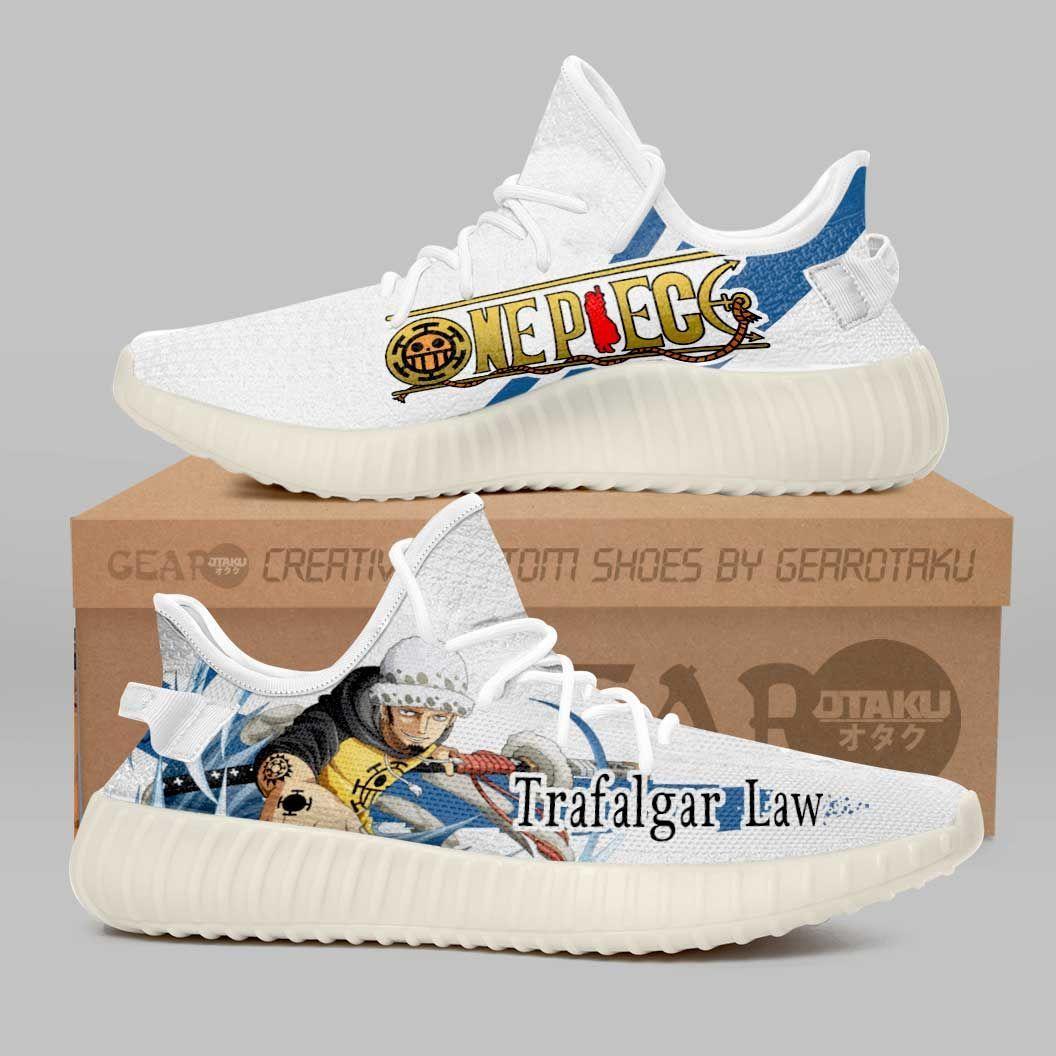 Trafalgar D. Water Law Shoes One Piece Custom Anime Shoes G01210