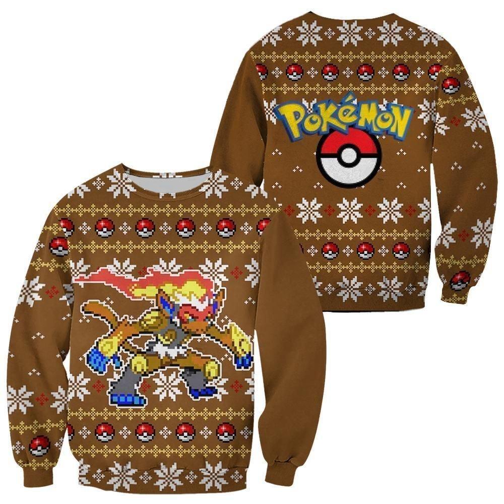 Pokemon Infernape Ugly Christmas Sweater Custom Xmas Gift GO0110