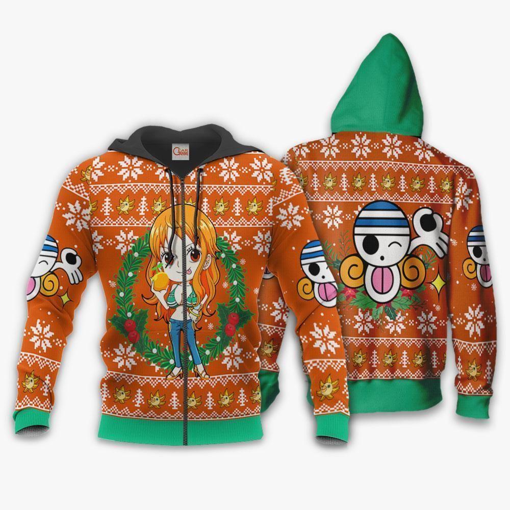 Nami Ugly Christmas Sweater One Piece Anime Xmas GO0110