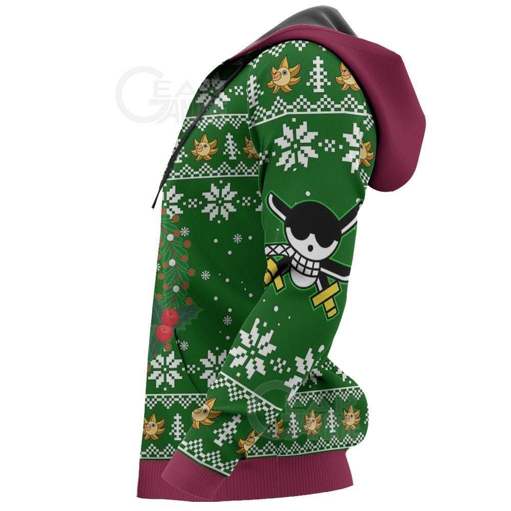 Happy Zoro Ugly Christmas Sweater One Piece Anime Xmas GO0110