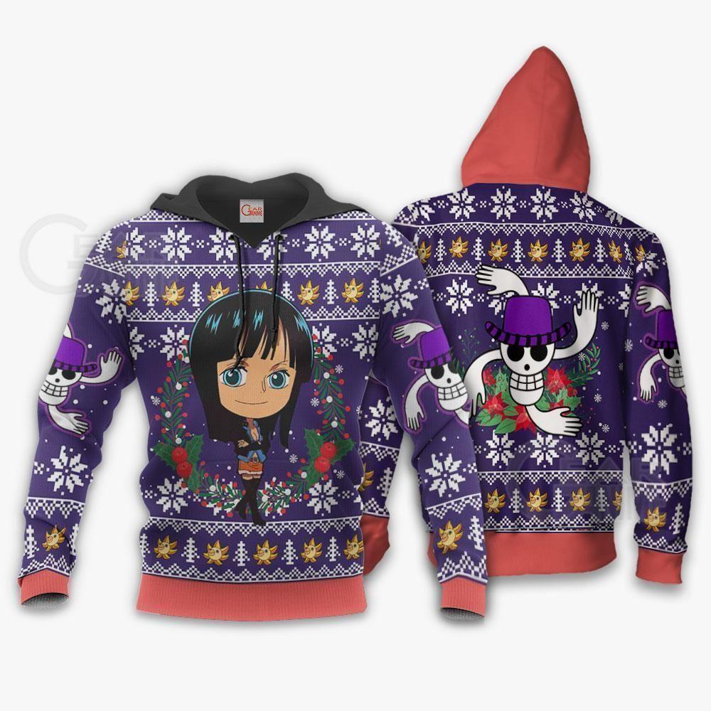 Nico Robin Ugly Christmas Sweater One Piece Anime Xmas GO0110