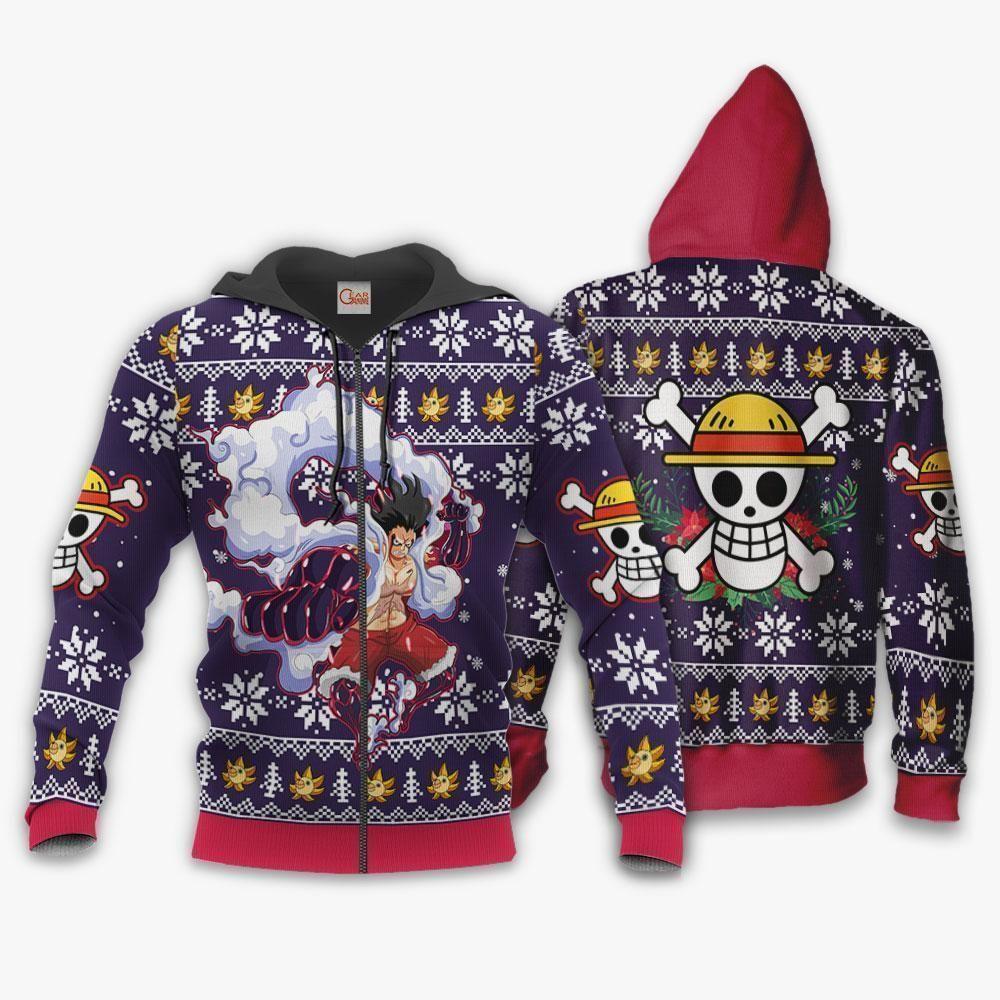Luffy Gear 4 Ugly Christmas Sweater One Piece Anime Xmas GO0110