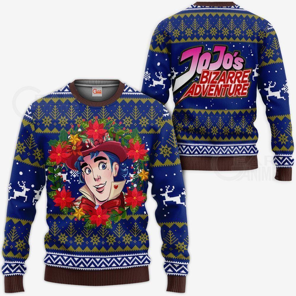 Jonathan Joestar Ugly Christmas Sweater JoJo's Anime Xmas Hoodie GO0110
