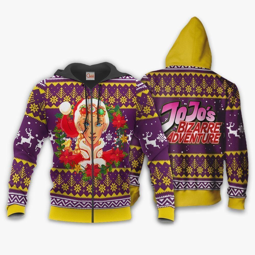 Giorno Giovanna Ugly Christmas Sweater JoJo's Anime Xmas Hoodie GO0110