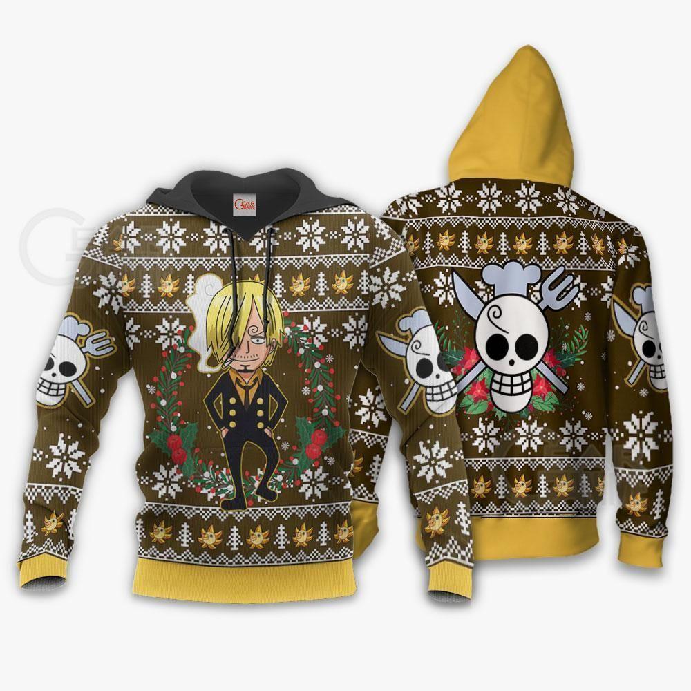 Sanji Ugly Christmas Sweater One Piece Anime Xmas GO0110