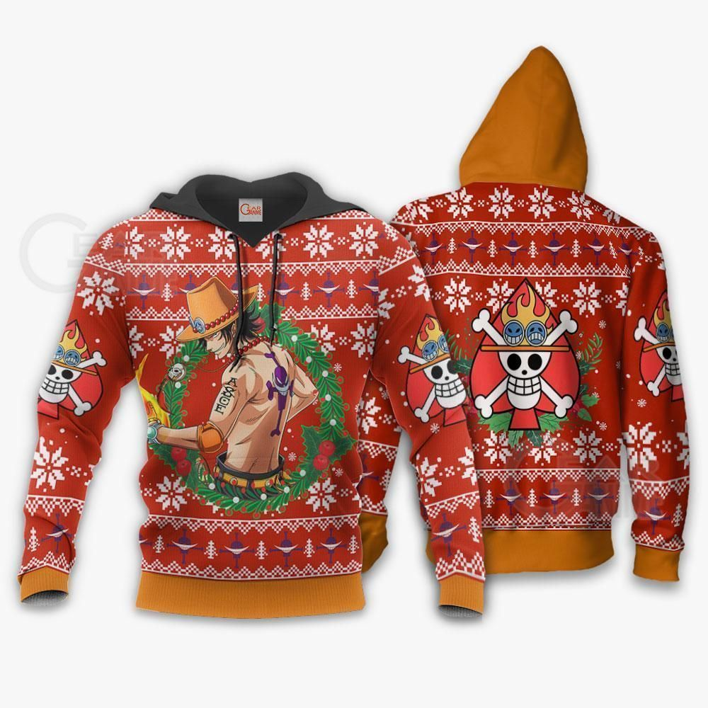 Portgas Ace Ugly Christmas Sweater One Piece Anime Xmas GO0110