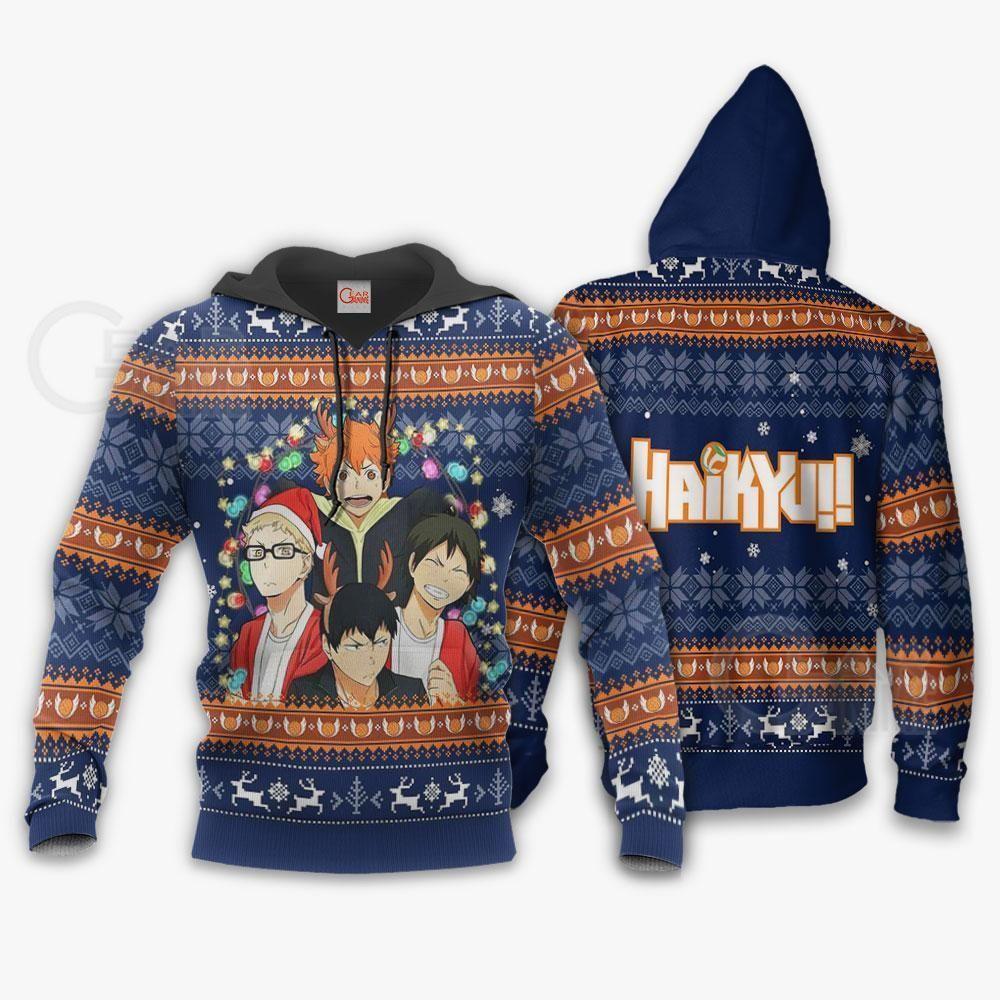 Haikyuu Ugly Christmas Sweater Haikyuu Anime Xmas Gift GO0110