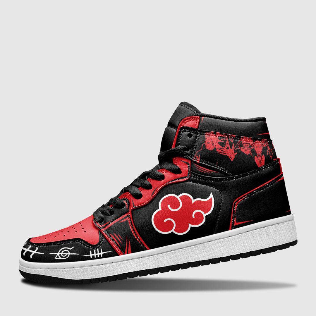 Akatsuki Sneakers Custom Hidden Village Symbols Custom Anime Naruto Shoes GO1210