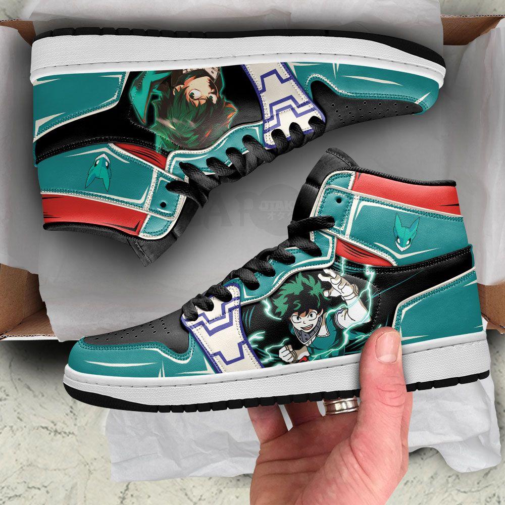 MHA Deku Shoes Custom Izuku Midoriya Anime My Hero Academia Shoes GO1210