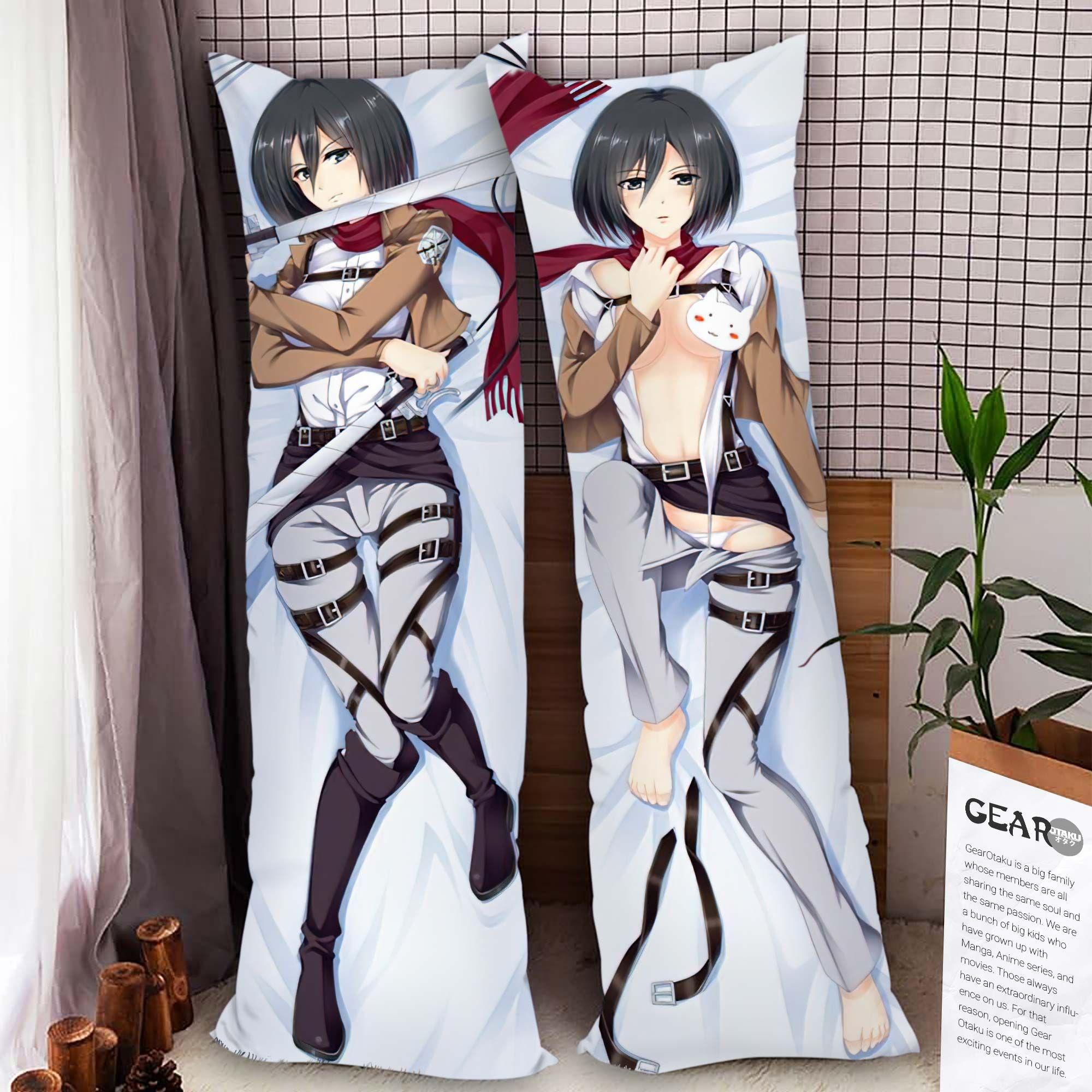 AOT Mikasa Ackerman Body Pillow Cover Anime Gifts Idea For Otaku Girl Official Merch GO0110