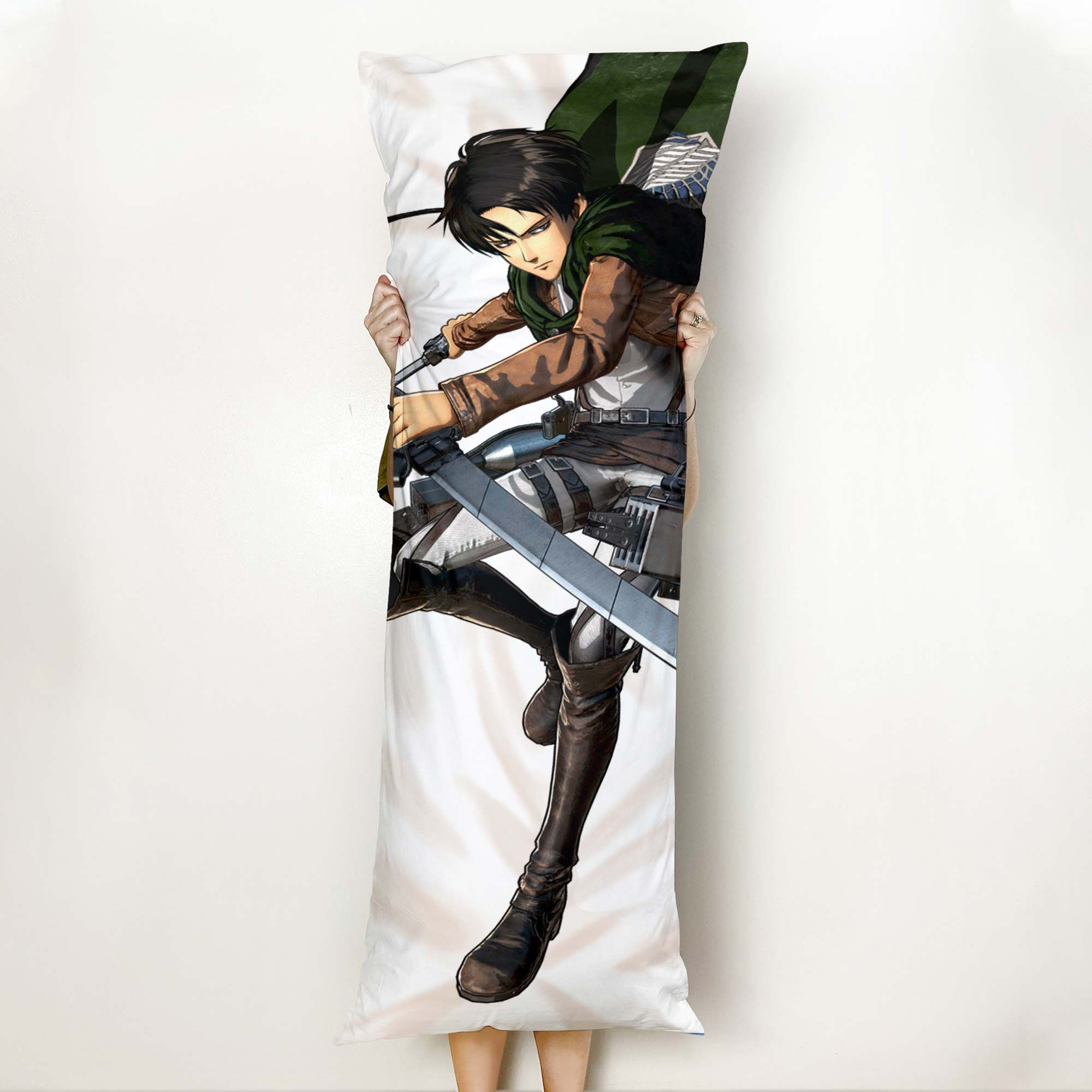 Levi Ackerman Body Pillow Cover Custom Attack On Titan Anime Gifts Official Merch GO0110