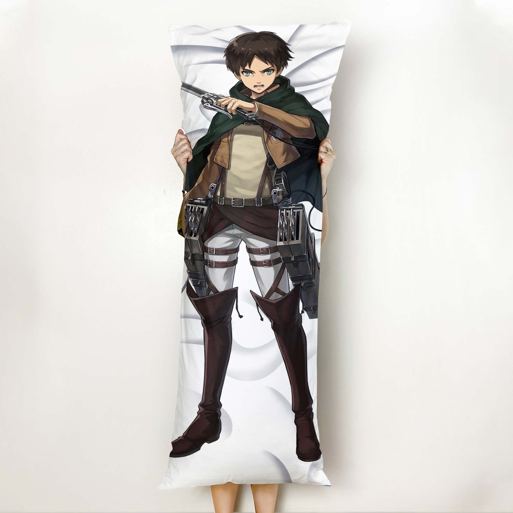 Eren Jaeger Body Pillow Cover Custom Attack On Titan Anime Gifts Official Merch GO0110