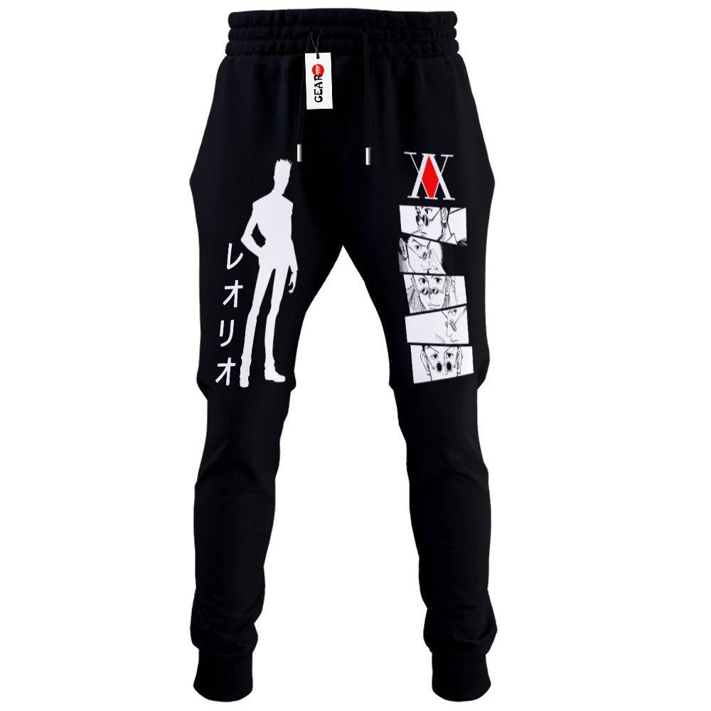 HxH Leorio Joggers Fleece Custom Hunter x Hunter Anime Sweatpants G01210