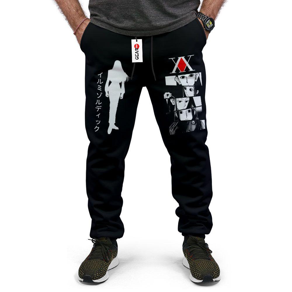 Illumi Zoldyck Joggers Fleece Custom Hunter x Hunter Anime Sweatpants G01210