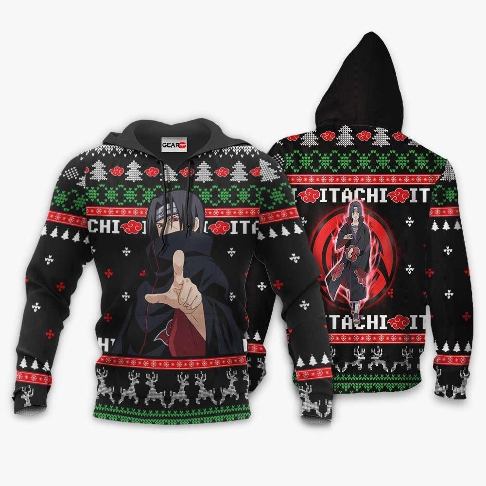 Akatsuki Itachi Ugly Christmas Sweater Custom Naruto Anime Xmas Gifts GO0110