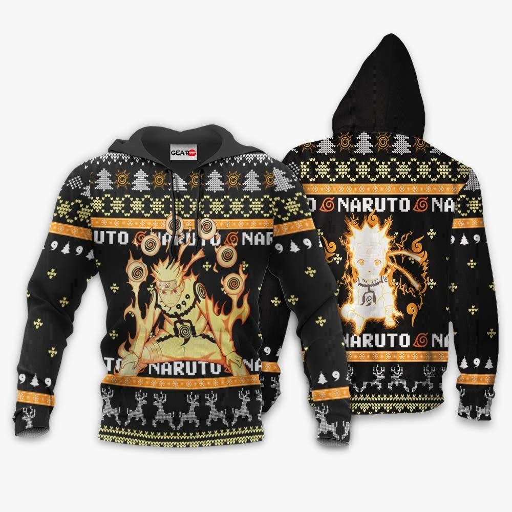 Naruto Bijuu Ugly Christmas Sweater Custom Naruto Anime Xmas Gifts GO0110