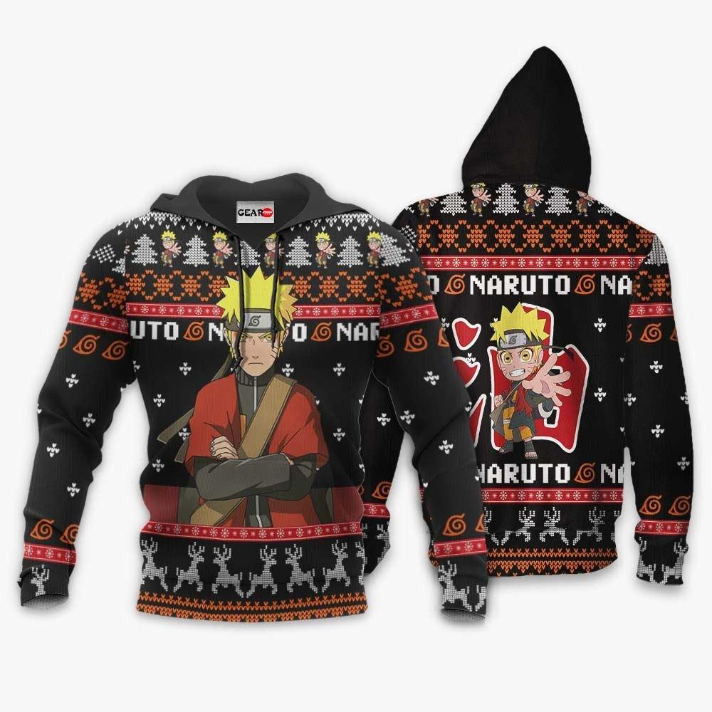 Naruto Sage Ugly Christmas Sweater Custom Naruto Anime Xmas Gifts GO0110