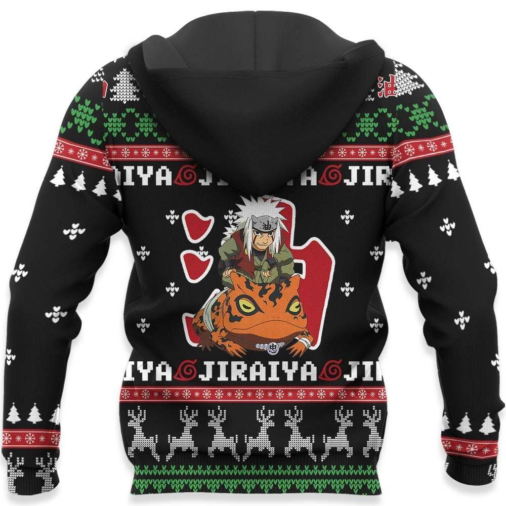 Jiraiya Pervy Sage Ugly Christmas Sweater Custom Naruto Anime Xmas Gifts GO0110