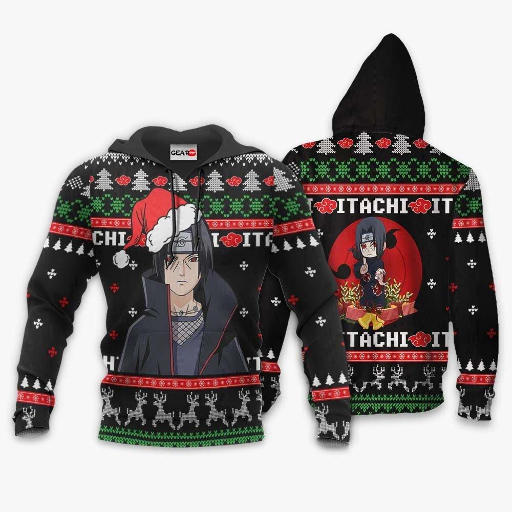 Santa Itachi Ugly Christmas Sweater Custom Naruto Anime Xmas Gifts GO0110