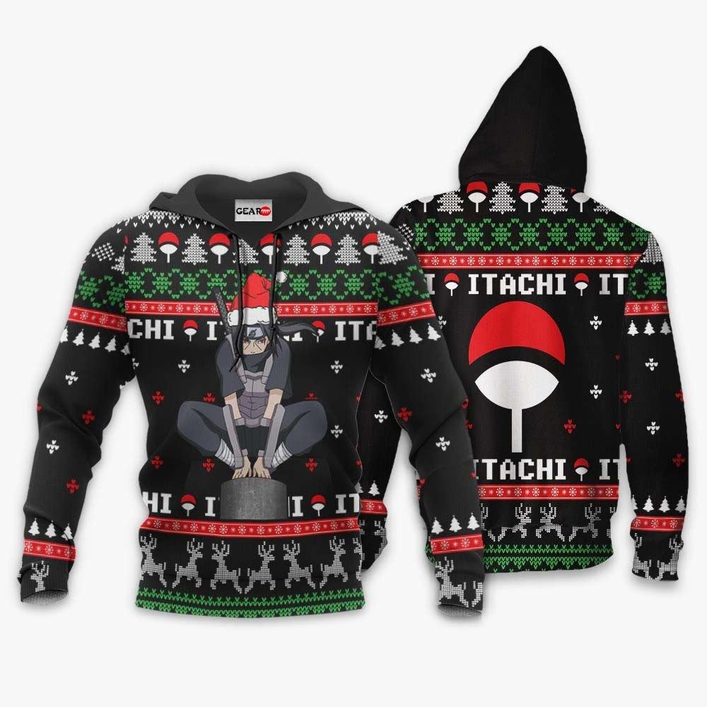Anbu Itachi Ugly Christmas Sweater Custom Naruto Anime Xmas Gifts GO0110